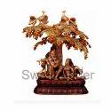 Brass Radha Krishna With Tree