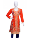 Red Full Embroidery Kurti