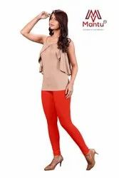 Mantu Women''s Cotton Lycra V Cut Churidar Leggings