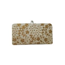 Silk Embroidered Party Clutch Bag