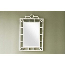 IRA Furniture White Frame Bathroom Vanity Mirror, Packaging Type: Box