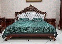hand made Oak Wood Bedroom Set, Size: Queen, Warranty: 3 Year