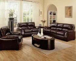 Pu Leather Sofa Set