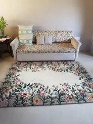 Silk Square Hand Tufted Rugs, Size: 8 x 8 feet, Packaging Type: Roll