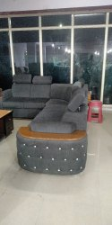 Fabric L Shaped Sofa Set