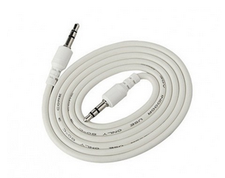White ERD Mobile Aux Cable PC-11
