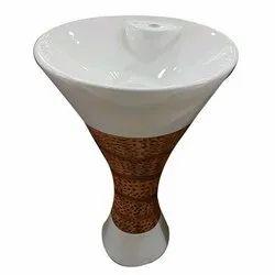 Ceramic Designer Pedestal Wash Basin, for Bathroom