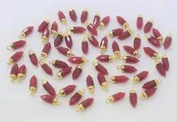 Ruby Quartz Gemstone Petite Spike Pendant
