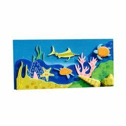 Matte FRP Sea Wall Mural, For Decoration, Size: 5 X 2 Feet,6 X 2 Feet Etc