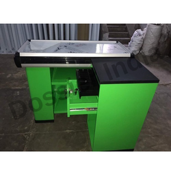 Green And Black Stainless Steel, Acrylic Imported Cash Counter