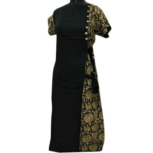 Cotton And Rayon Casual Wear Ladies Black Designer Suit