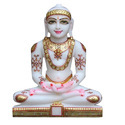 15 Inch Marble Jain Mahaveer Statue