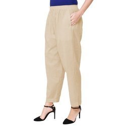 Ladies Palazzo Cotton Pocket Pant