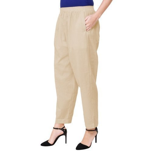 e9fed3201 Ladies Cotton Cream Color Palazzo Pocket Pant, Rs 599 /piece | ID ...