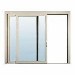 Modern White Powder Coated Aluminium Sliding Window, for Office