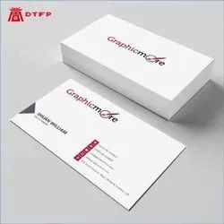 White and Black Paper Business Cards