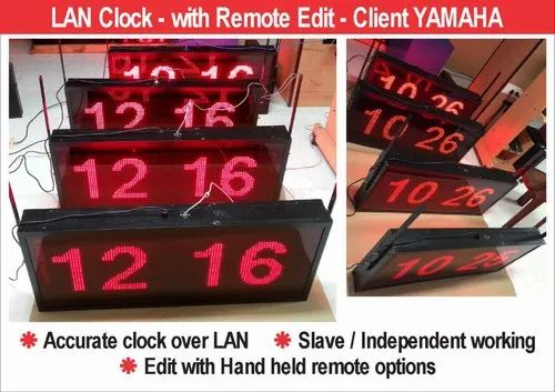 LED Remote Clock