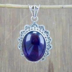 Amethyst Gemstone Handmade Sterling Silver 925 Jewelry Pendant Wp-5808