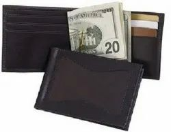 Leather Wallet With Money Clip Inside