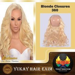 Blonde 360 Closures Hair