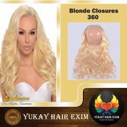 Blonde 360 Closures Hair