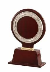 Circle Trophy With Silver Frame