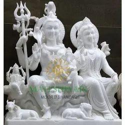 Beautiful Marble Gori Shankar Statue