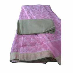 Ladies Pink Printed Saree