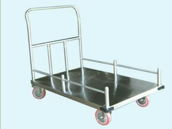 Stainless Steel Platform Trolley with Side Grill