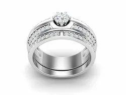 925 Sterling Silver Zircon Wedding Ring