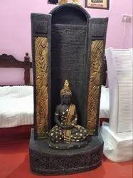 Fiber Black Buddha water fountain