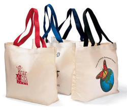 Onego Printed Cotton Grocery Bag, Capacity: 10-15 Liter