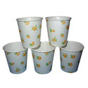 White Printed Tea Paper Cups