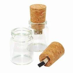 Wooden BrandSTIK Message in a Bottle USB Flash Drives 8 GB
