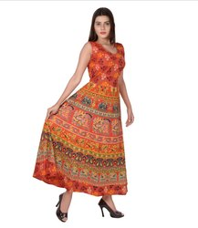 Ladies Traditional Print Frock