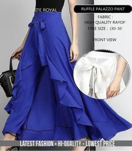 cd8dc40afce5 Ruffle Palazzo Skirt, Rs 349 /piece, Sadabahar Fashion   ID: 20458552412