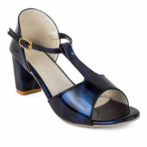 9b96ba8d3 Blue And Also Available In Red Cute Fashion Ladies Fancy Block Heel Sandals