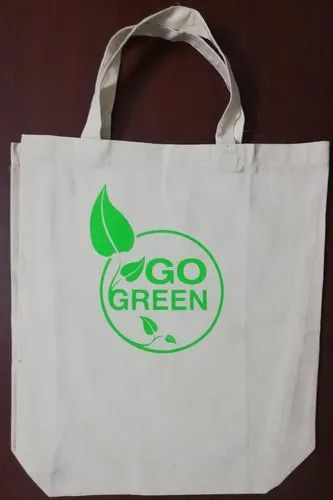 afe19efb8 Solid Plain Go Green Printed Cotton Canvas Tote Bag, Rs 50 /piece ...