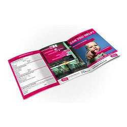 Pink and White Advertising Paper Leaflet