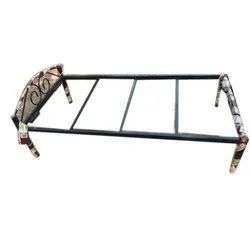 Rectangular Metal Bed Frame with plywood