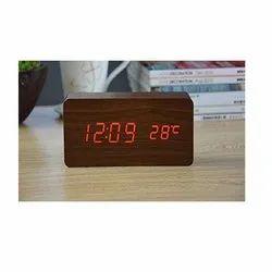 Seniority Brown Rectangle Wooden Clock