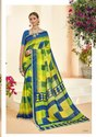 Georgette Printed With Lace Saree