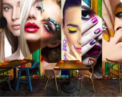 Customized Beauty Parlour Wallpaper
