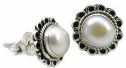 Pearl 925 Sterling Silver Stud Earrings