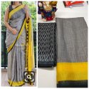 Party Wear Digital Printed Linen Saree