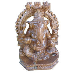 Teak Wood Polished 24 Inch Ganesh