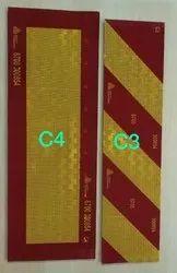 Avery C3 C4 Retro Reflective Plate AIS 089