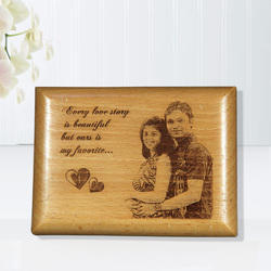 Personalized Gift Wooden Engraved Plaque - Couple