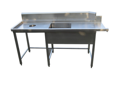 Cook Fresh Kitchen Equipment Stainless Steel Table With Garbage - Restaurant equipment stainless steel table