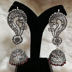 Oxidized German Silver Heavy Jhumka